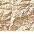 Mapa de la gran vuelta al macizo de Ándara.