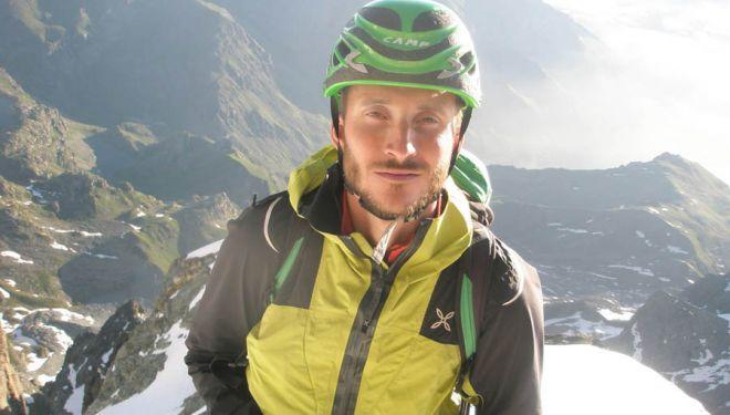 El alpinista italiano Maurizio Giordano, fallecido en el Gasherbrum IV.