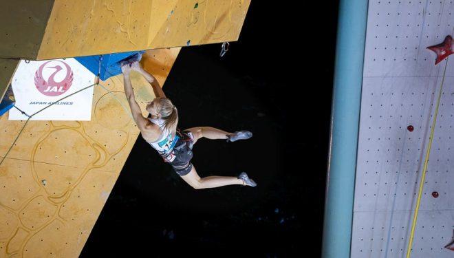 Janja Garnbret ganadora prueba Copa del Mundo escalada dificultad celebrada en Arco 2018