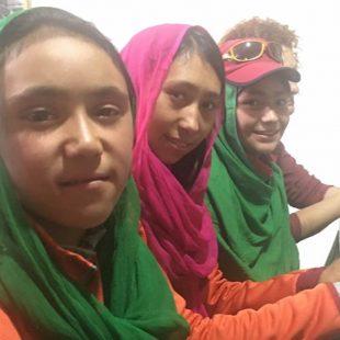 Amina,Alum y Sudiqa, las tres chicas de Pakistán que han subido un seismil gracias al Proyecto de las Chicas de Hushé. 2018