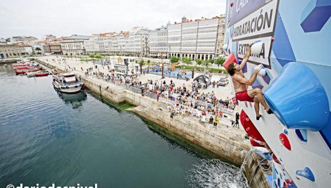 Chris Sharma en el Psicobloc A Coruña 2018
