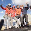 Mathieu Maynadier, Nicolas Favresse, Carlos Molina y Jean-Louis Wertz en la cima del Pathan Peak. 2018