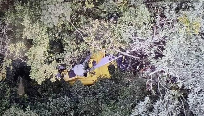 Imágenes del helicóptero siniestrado en Nepal. 2018
