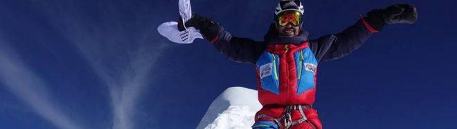 Sergi Mingote en la cima del Manaslu
