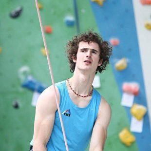 Adam Ondra en el Campeonato Europeo de Dificultad 2017 (fue 2º)