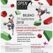 Cartel información Open Boulder Psicobloc Bilbao BBK 2018