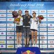 Podio femenino del Campeonato del Mundo 2018