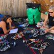 Nina Caprez y Lynn Hill preparan el material para The nose (El Capitan)