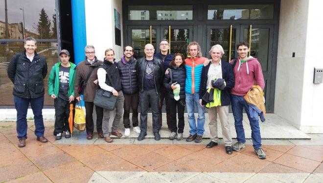 Delegación de la AAEE en el juicio por Loja