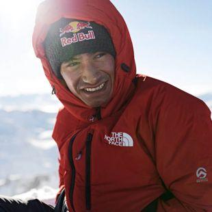 David Lama en el Stubai Glacier, Austria.