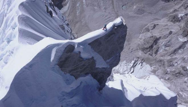 David Lama en la cima del Lunag Ri.
