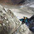 Cecilia Buil, Anna Torretta e Ixchel Foord en el corredor suroeste de los Mugu Peaks