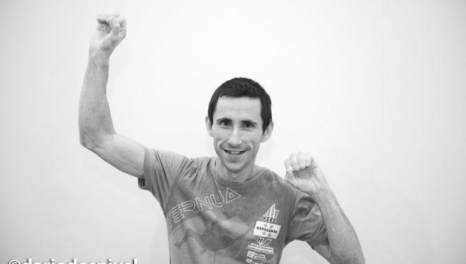 """Ramón Julián """"Ramonet"""" en la última prueba Copa España Escalada, que ganó, lo mismo que la Copa."""