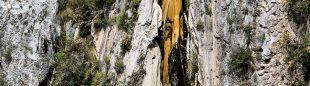 La cascada de los Árboles petrificados.