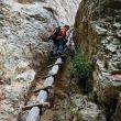 La escalera de madera del Escarrissó de Barretes.