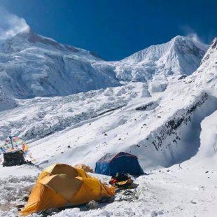 Campo base del Manaslu en invierno de 2019