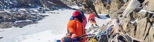 Trabajo del equipo de Álex Txikon en el K2 invernal