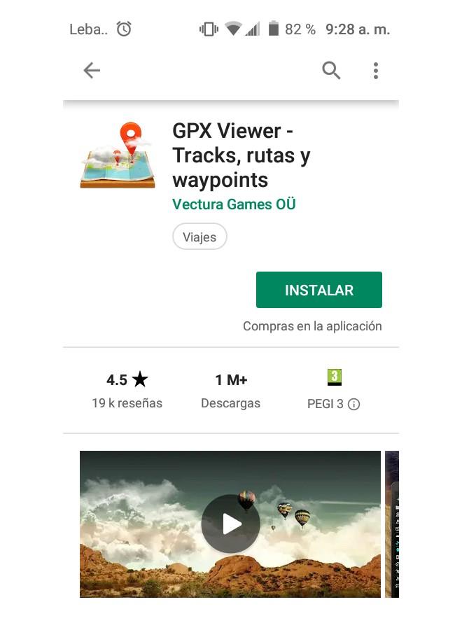 Aplicación GPX Viewer