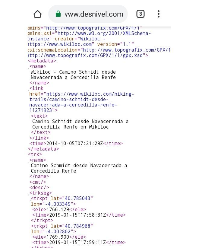 Paso 3-Página con códigos en Desnivel.com