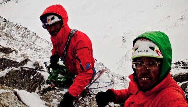 David Lama y Hansjörg Auer