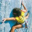 """Maurizio Zanolla """"·Manolo"""" escalando en los años ochenta"""