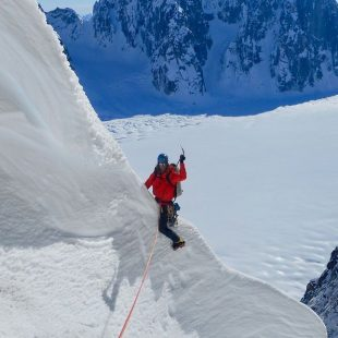 Alan Rousseau y Jackson Marvell en el Mt. Dickey