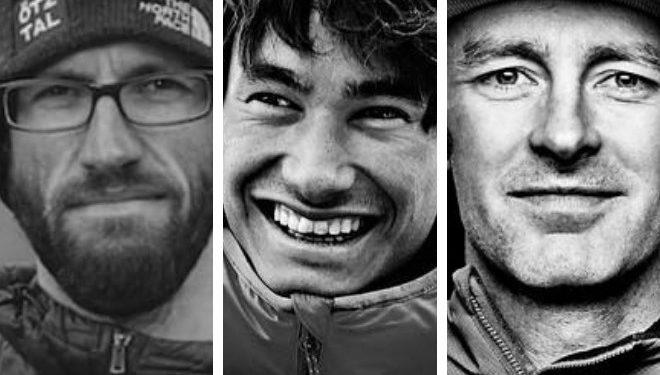 Hansjörg Auer, David Lama y Jess Roskelley