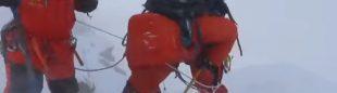 Nirmal Purja en el C3 del Dhaulagiri