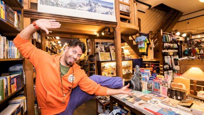 Juan José Andújar 'Hippie' en la Librería Desnivel