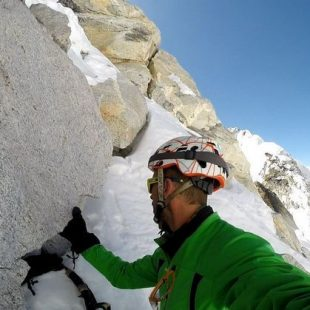 Ángel Salamanca en un seismil del Khumbu