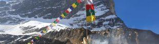 Campo base bajo la arista noroeste del Dhaulagiri