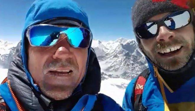 Marek Holecek y Zdenek Zák en el Chamlang