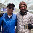 Kami Rita Sherpa y Ali Sadpara en el CB del Everest