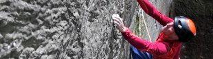 Steve McClure en 'GreatNess Wall' E10 7a de Nesscliffe
