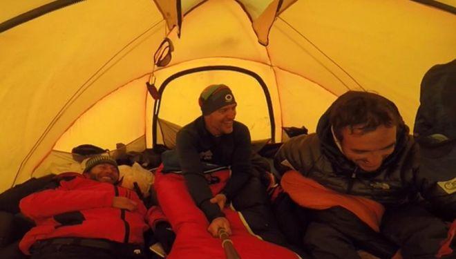 Mingote en el C2 del Lhotse