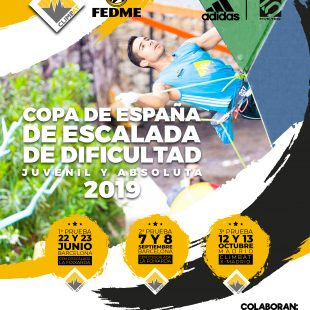 Cartel Copa España de Escalada de Dificultad 2019