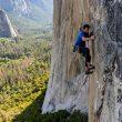 Brad Gobright y Alex Honnold en 'El Niño' (950 m, 8a+) en El Capitan