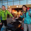Denis Urubko y Pipi Cardell partiendo de expedición