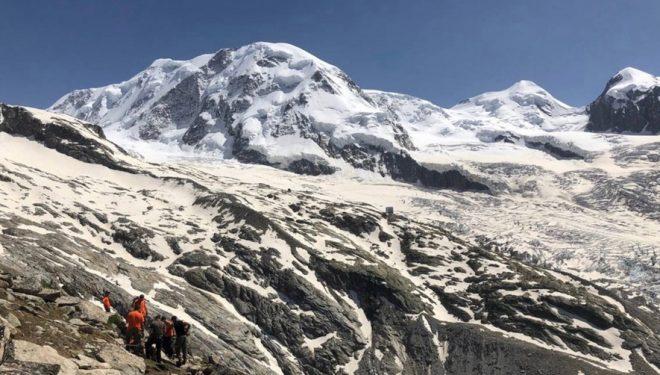 Trabajos del nuevo sendero al refugio del Monte Rosa