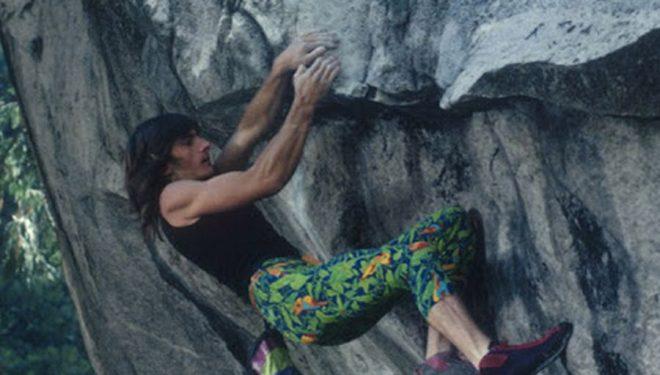 """Finuco Martínez en la sexta ascensión de """"Midnight Lightning"""", 1987"""