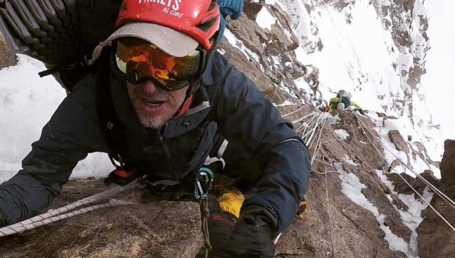 Sergi Mingote durante su reciente ascensión al Nanga Parbat