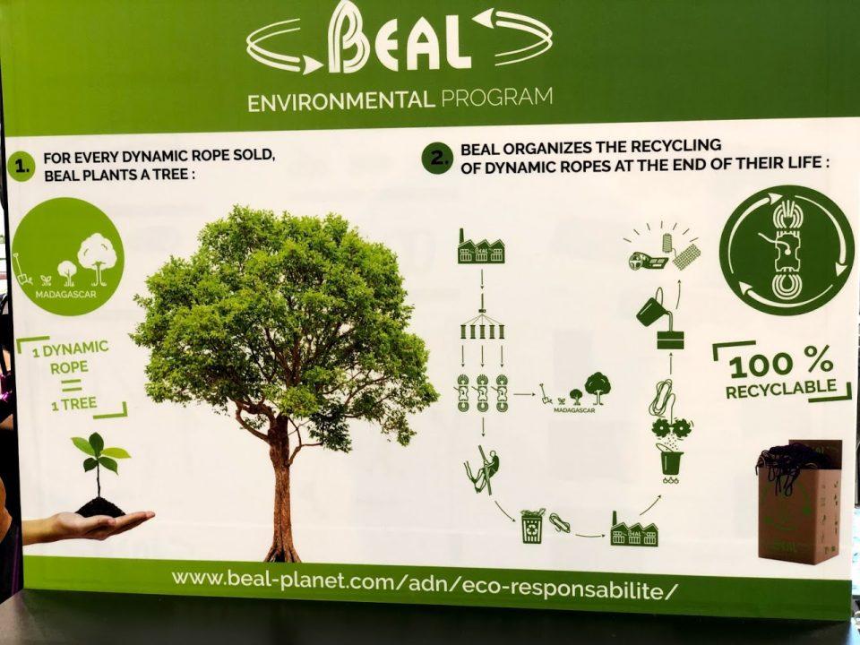 Programa sostenible de Beal en Outdoor 2019