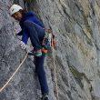 """Nina Caprez en """"La vida es silbar"""" en la norte del Eiger, agosto 2019"""