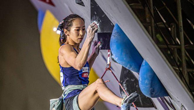 Akiyo Noguchi en la eliminatoria prueba combinada Campeonato Mundial Japón 2019