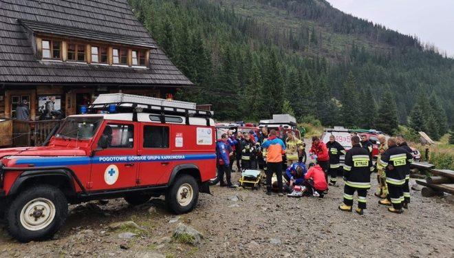 Operativo de rescate en los Tatras