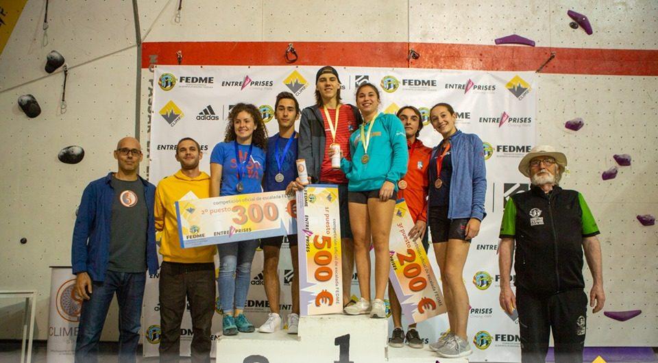 Podium de la segunda prueba de la Copa de España de Escalada de Dificultad 2019