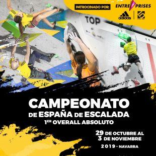 Cartel Campeonato de España de Escalada 2019