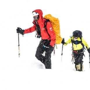Sito Carcavilla y Carlos Soria en ruta hacia el campo 2 Dhaulagiri en su primer intento a cima del otoño 2019.