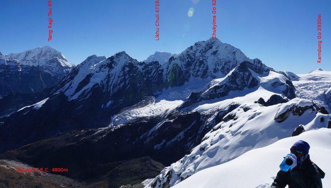 Chukima Go (6.258 m), en el valle del Rolwaling (Nepal)