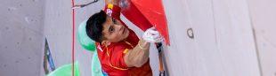 Alberto Ginés en la Copa del Mundo de Escalada de Dificultad de China 2019